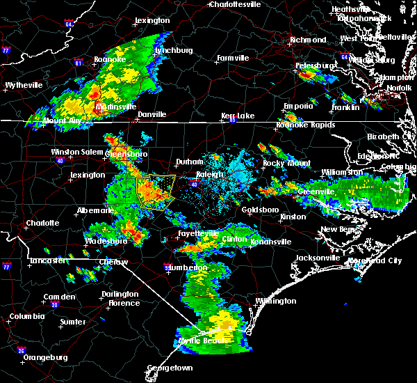 Radar Image for Severe Thunderstorms near Moncure, NC at 6/15/2016 7:37 PM EDT