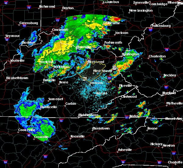 Radar Image for Severe Thunderstorms near Morehead, KY at 6/15/2016 9:31 PM EDT