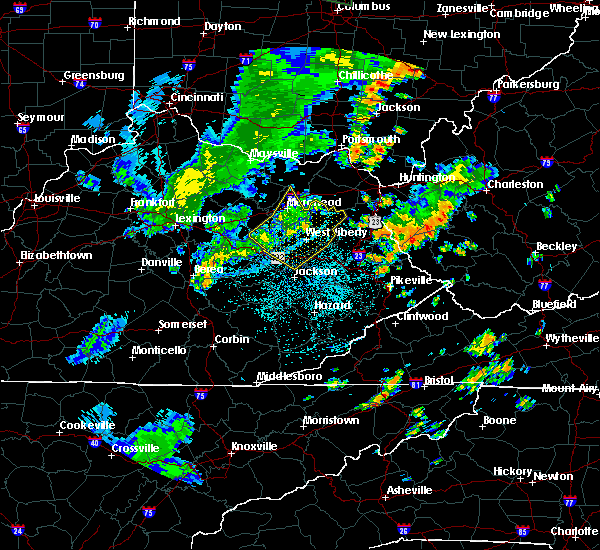 Radar Image for Severe Thunderstorms near Morehead, KY at 6/15/2016 9:59 PM EDT