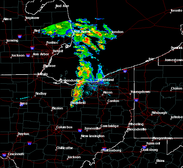 Radar Image for Severe Thunderstorms near Wellington, OH at 6/16/2016 7:01 AM EDT