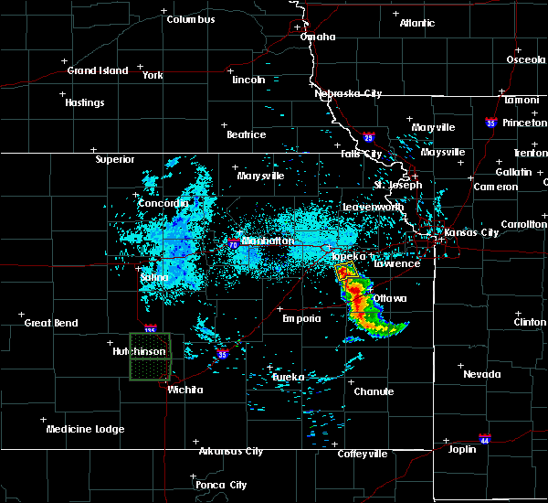Radar Image for Severe Thunderstorms near Overbrook, KS at 6/16/2016 8:13 AM CDT