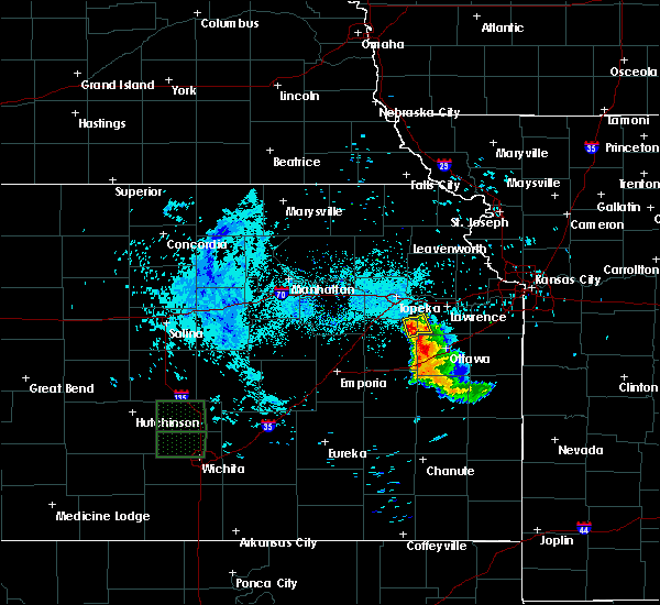 Radar Image for Severe Thunderstorms near Overbrook, KS at 6/16/2016 8:29 AM CDT