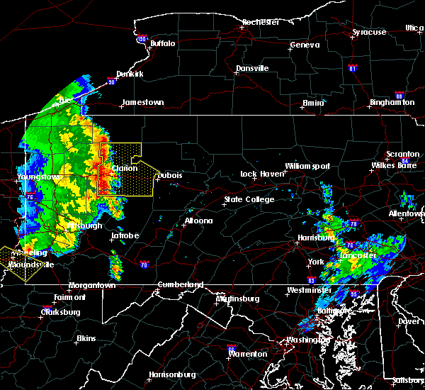 Radar Image for Severe Thunderstorms near New Bethlehem, PA at 6/16/2016 10:27 AM EDT