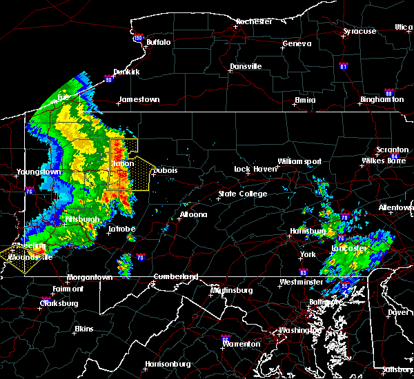 Radar Image for Severe Thunderstorms near New Bethlehem, PA at 6/16/2016 10:48 AM EDT