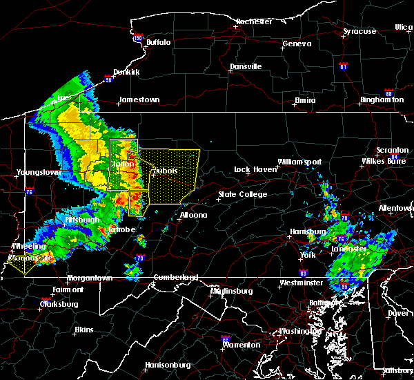 Radar Image for Severe Thunderstorms near Sandy, PA at 6/16/2016 11:07 AM EDT