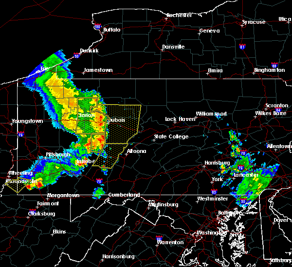 Radar Image for Severe Thunderstorms near Hastings, PA at 6/16/2016 11:15 AM EDT
