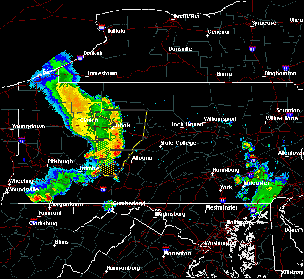 Radar Image for Severe Thunderstorms near Sandy, PA at 6/16/2016 11:31 AM EDT