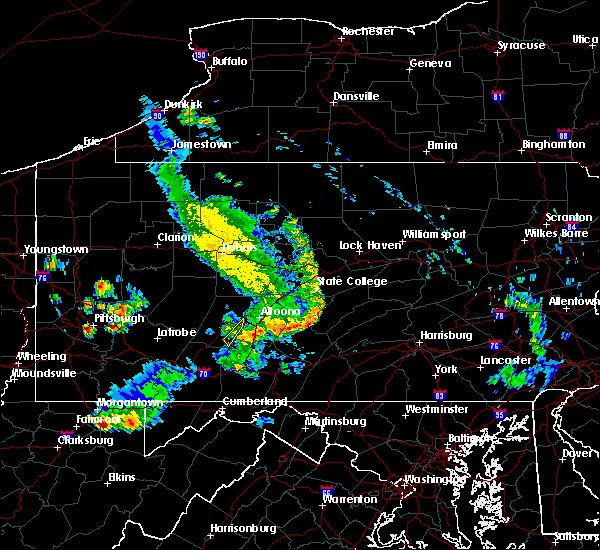 Radar Image for Severe Thunderstorms near Dunlo, PA at 6/16/2016 12:28 PM EDT