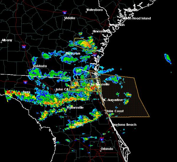 Radar Image for Severe Thunderstorms near Jesup, GA at 6/16/2016 1:55 PM EDT