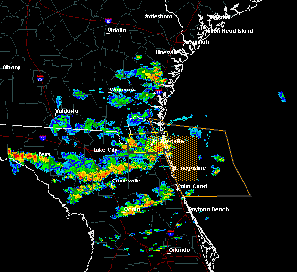 Radar Image for Severe Thunderstorms near Palm Valley, FL at 6/16/2016 2:07 PM EDT