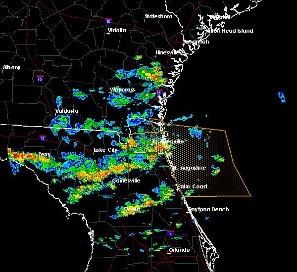 Radar Image for Severe Thunderstorms near Jacksonville, FL at 6/16/2016 2:07 PM EDT