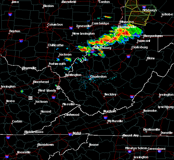 Radar Image for Severe Thunderstorms near Parkersburg, WV at 6/16/2016 4:04 PM EDT