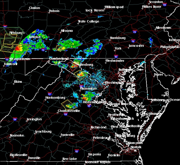 Radar Image for Severe Thunderstorms near Orange, VA at 6/16/2016 4:35 PM EDT