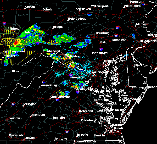 Radar Image for Severe Thunderstorms near Charles Town, WV at 6/16/2016 4:45 PM EDT