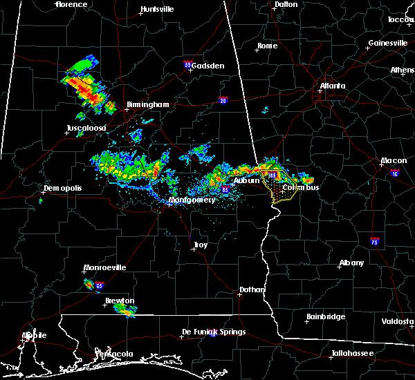 Radar Image for Severe Thunderstorms near Columbus, GA at 6/16/2016 8:02 PM EDT
