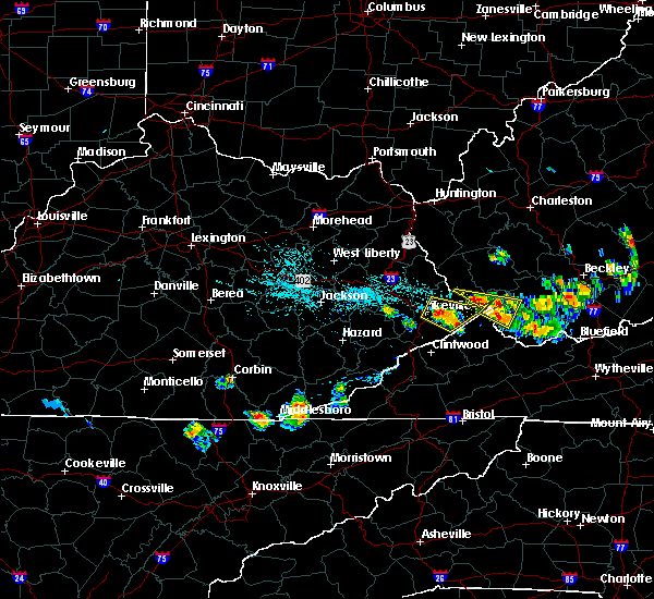 Radar Image for Severe Thunderstorms near Pikeville, KY at 6/16/2016 8:16 PM EDT