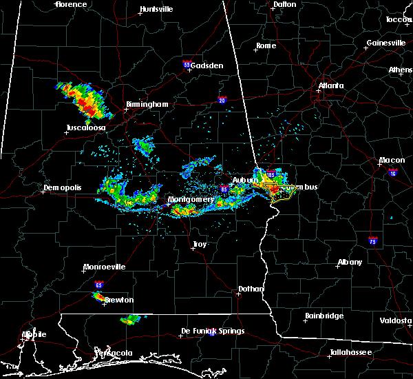 Radar Image for Severe Thunderstorms near Columbus, GA at 6/16/2016 8:38 PM EDT
