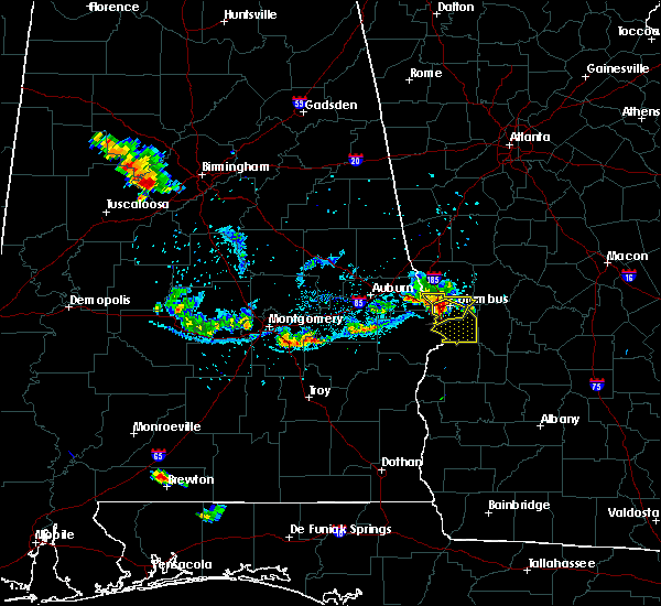 Radar Image for Severe Thunderstorms near Columbus, GA at 6/16/2016 8:45 PM EDT