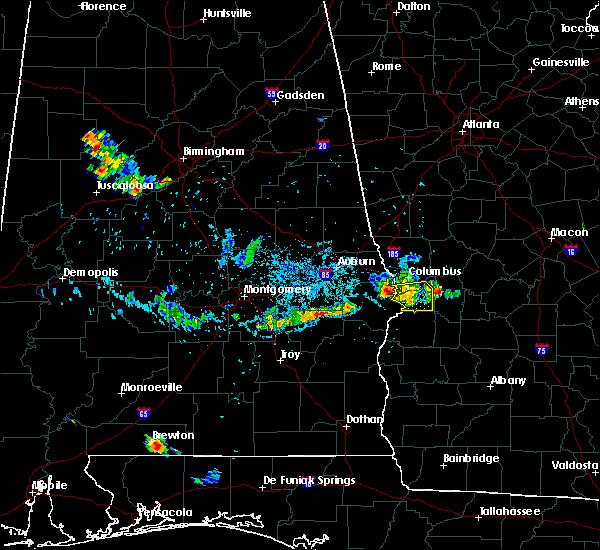 Radar Image for Severe Thunderstorms near Columbus, GA at 6/16/2016 9:13 PM EDT