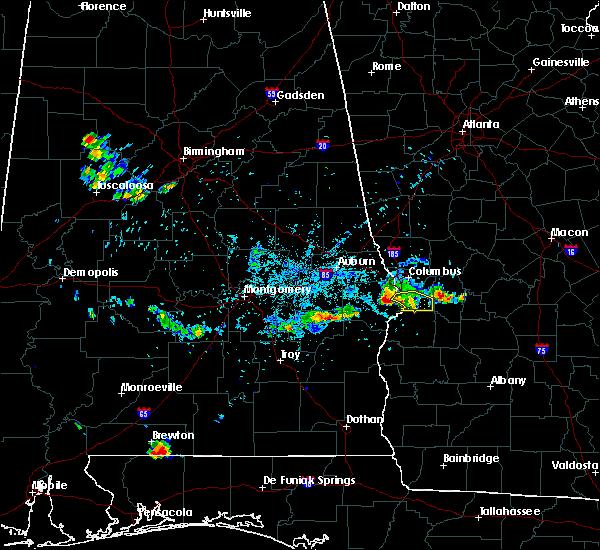 Radar Image for Severe Thunderstorms near Columbus, GA at 6/16/2016 9:22 PM EDT