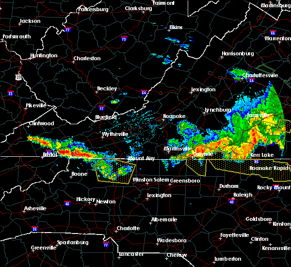 Radar Image for Severe Thunderstorms near Mountain Road, VA at 6/16/2016 11:25 PM EDT