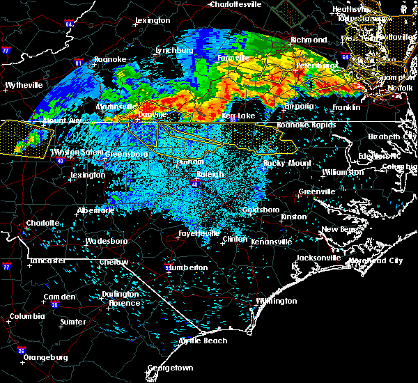 Radar Image for Severe Thunderstorms near Kittrell, NC at 6/16/2016 11:29 PM EDT