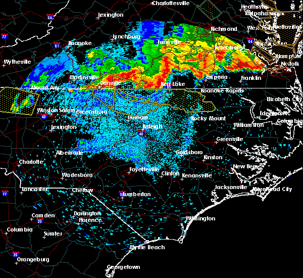 Radar Image for Severe Thunderstorms near Warrenton, NC at 6/16/2016 11:32 PM EDT