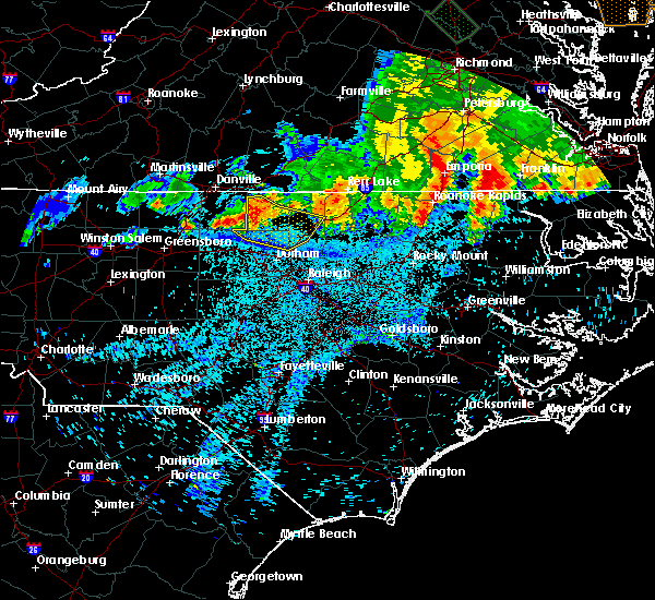 Radar Image for Severe Thunderstorms near Durham, NC at 6/17/2016 12:26 AM EDT