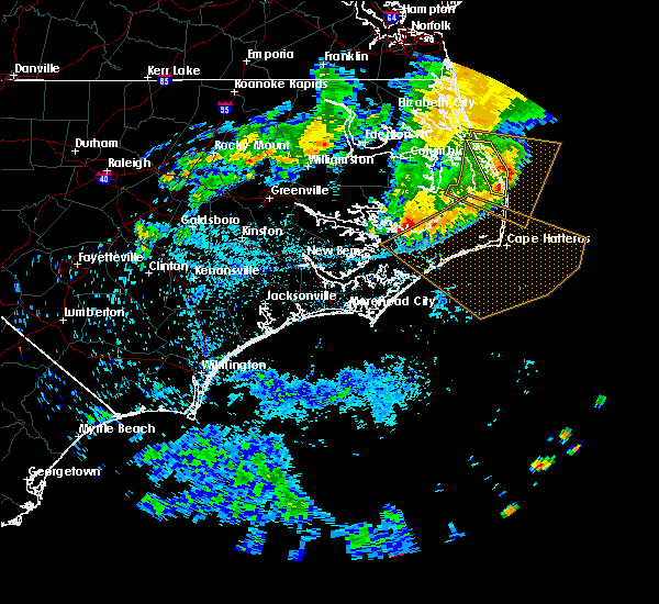 Radar Image for Severe Thunderstorms near Kitty Hawk, NC at 6/17/2016 3:10 AM EDT