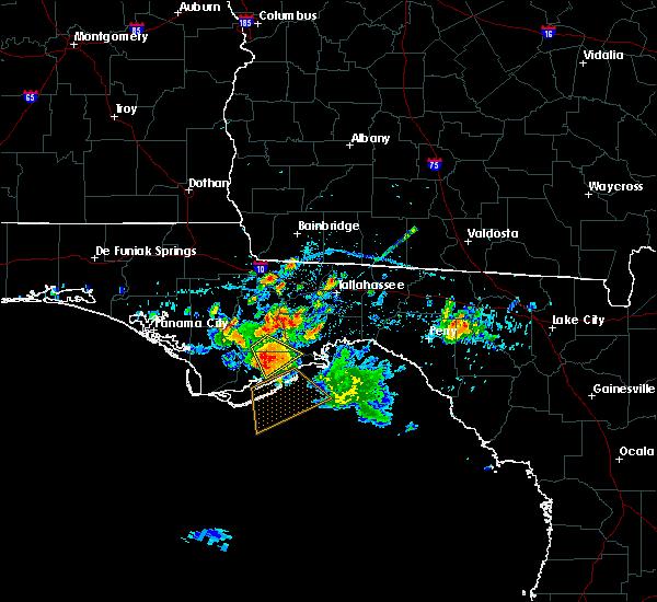 Radar Image for Severe Thunderstorms near Carrabelle, FL at 6/17/2016 2:52 PM EDT