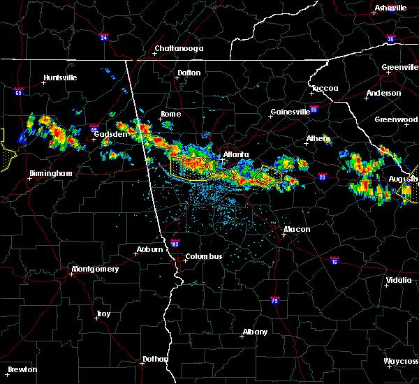 Radar Image For Severe Thunderstorms Near Covington GA At 6 17 2016 2