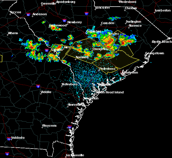 Radar Image for Severe Thunderstorms near Summerville, SC at 6/17/2016 2:55 PM EDT