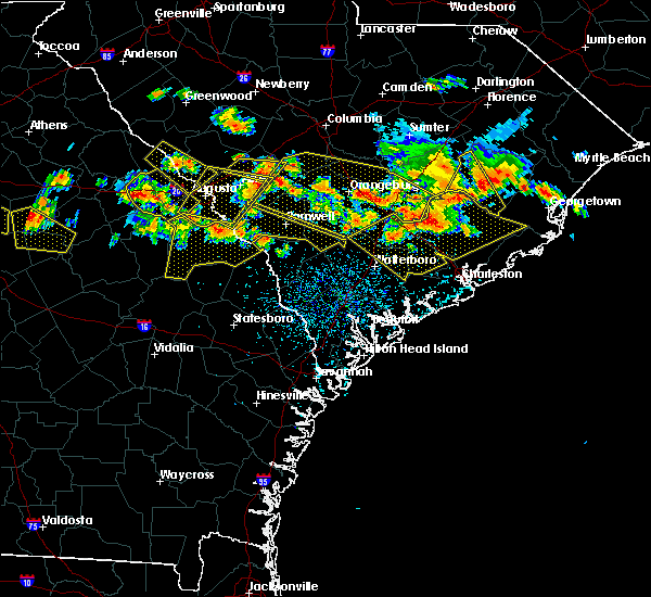Radar Image for Severe Thunderstorms near North Charleston, SC at 6/17/2016 3:24 PM EDT