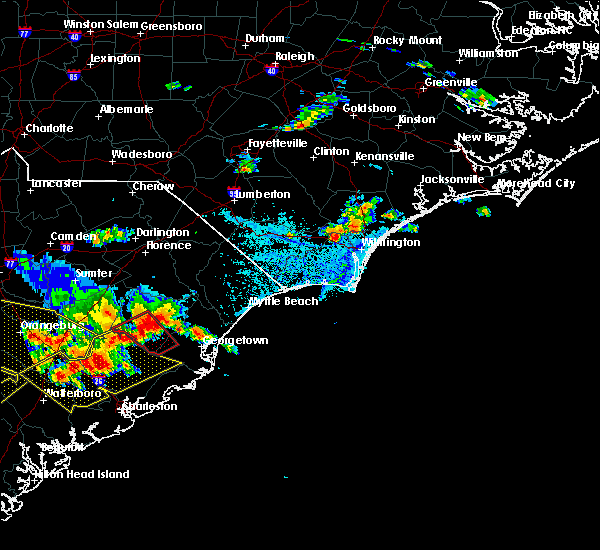 Radar Image for Severe Thunderstorms near Murrells Inlet, SC at 6/17/2016 3:30 PM EDT