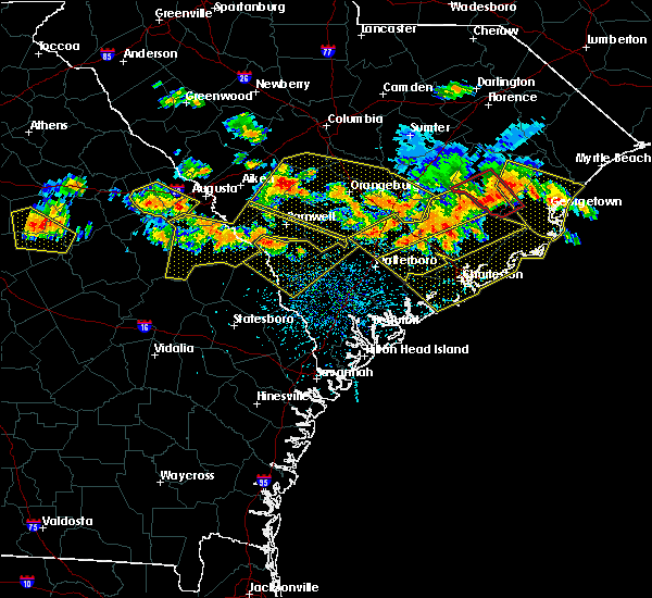 Radar Image for Severe Thunderstorms near Summerville, SC at 6/17/2016 3:40 PM EDT