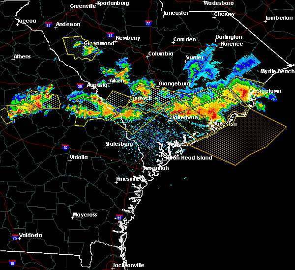 Radar Image for Severe Thunderstorms near Summerville, SC at 6/17/2016 3:59 PM EDT