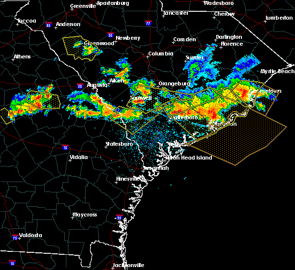 Radar Image for Severe Thunderstorms near Allendale, SC at 6/17/2016 4:02 PM EDT