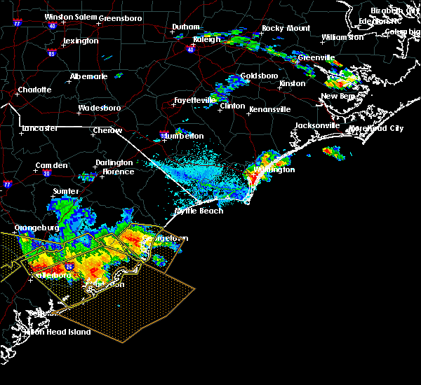 Radar Image for Severe Thunderstorms near Murrells Inlet, SC at 6/17/2016 4:03 PM EDT