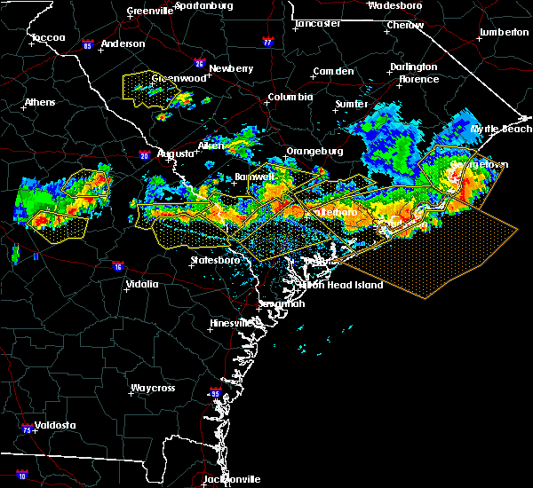 Radar Image for Severe Thunderstorms near Lincolnville, SC at 6/17/2016 4:22 PM EDT
