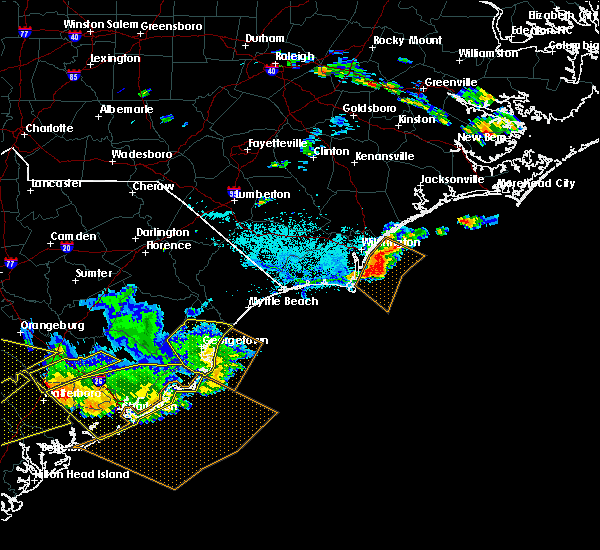 Radar Image for Severe Thunderstorms near Murrells Inlet, SC at 6/17/2016 4:25 PM EDT