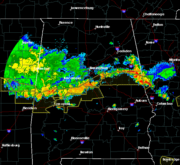 Radar Image for Severe Thunderstorms near Hissop, AL at 6/17/2016 4:01 PM CDT