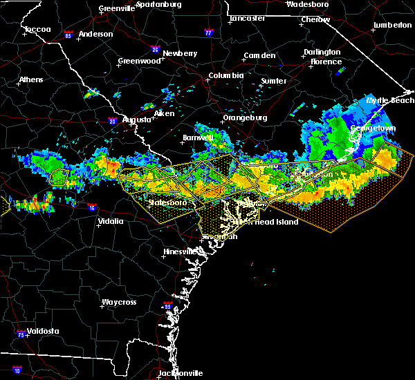 Radar Image for Severe Thunderstorms near Edisto Beach, SC at 6/17/2016 5:02 PM EDT