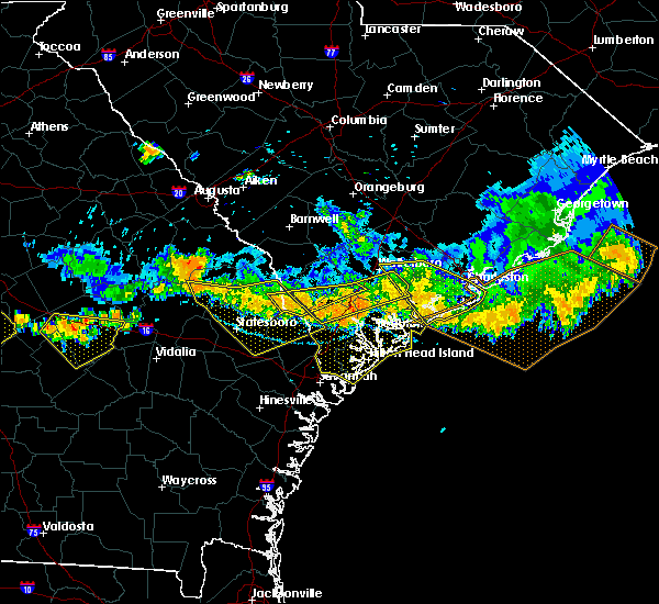 Radar Image for Severe Thunderstorms near Edisto Beach, SC at 6/17/2016 5:12 PM EDT