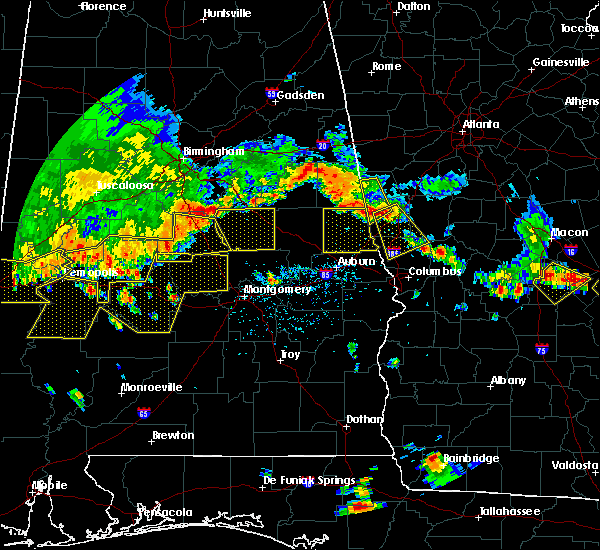 Radar Image for Severe Thunderstorms near Delta, AL at 6/17/2016 4:24 PM CDT
