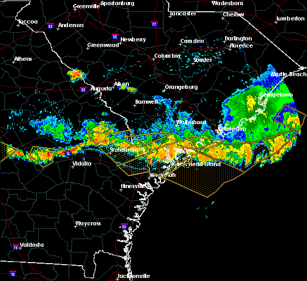 Radar Image for Severe Thunderstorms near Edisto Beach, SC at 6/17/2016 5:28 PM EDT