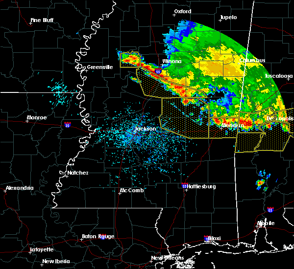Radar Image for Severe Thunderstorms near Newton, MS at 6/17/2016 4:31 PM CDT