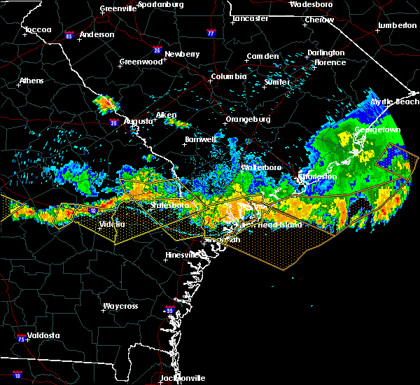 Radar Image for Severe Thunderstorms near Edisto Beach, SC at 6/17/2016 5:38 PM EDT