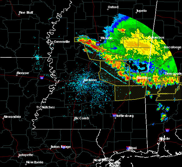 Radar Image for Severe Thunderstorms near Lauderdale, MS at 6/17/2016 4:47 PM CDT