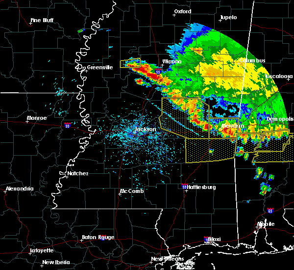 Radar Image for Severe Thunderstorms near Newton, MS at 6/17/2016 4:50 PM CDT