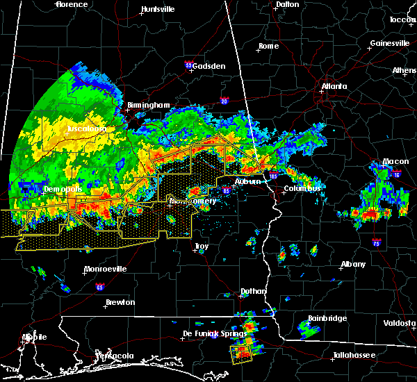 Radar Image for Severe Thunderstorms near Ladonia, AL at 6/17/2016 4:53 PM CDT